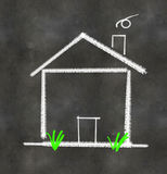 Simple House Illustration Royalty Free Stock Photos
