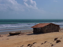 Simple house in Jericoacoara Beach Royalty Free Stock Photography