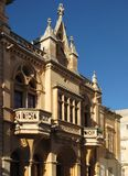 Simple house in Malta. House in the capital of Malta, Valletta in a typical summer day Stock Photo