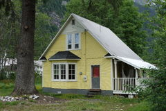 A simple house at stewart canada Royalty Free Stock Image