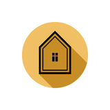 Simple house vector detailed illustration. Property developer co Royalty Free Stock Photos