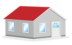 Simple house vector illustration. In 3d vector illustration