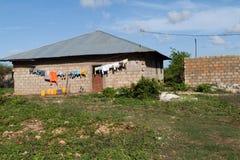 Simple house in a village in zanzibar. A simple house in a village in zanzibar Stock Images