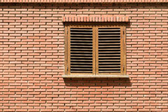 Simple House Window On Brick Wall Royalty Free Stock Images