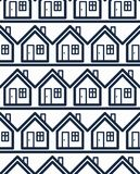 Simple houses continuous vector background. Property Royalty Free Stock Image