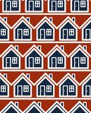 Simple houses continuous vector background. Property developer c Royalty Free Stock Images