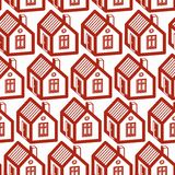 Simple houses continuous vector background. Property developer c Royalty Free Stock Photography