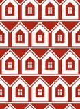 Simple houses continuous vector background. Property developer Stock Image