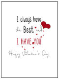 Simple I Have You Valentine Card Stock Image