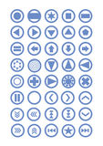 Simple icon. Web site and Internet vector icon or button Royalty Free Stock Images