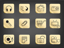 Simple icon drew on sticker Royalty Free Stock Images