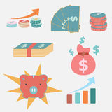 Simple icon for economic and business Royalty Free Stock Photos