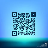 Simple icon QR code Stock Images