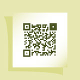 Simple icon QR code Royalty Free Stock Images