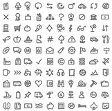 Simple icon set. Vector collection of various icons isolated on white Royalty Free Stock Photography