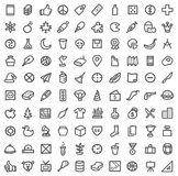 Simple icon set Royalty Free Stock Images