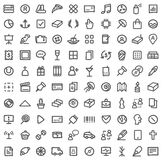 Simple icon set Stock Photography