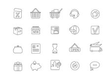 Simple icon set for all kind of internet shopping,paying on-line Royalty Free Stock Images