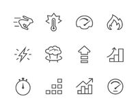 Simple Icon set related to Performance vector illustration