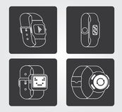 Simple Icon: Smart Watch Royalty Free Stock Photography
