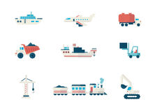 Simple icon for web. Set of simple construction and logistics icons for web. Flat vector illustration Stock Photo