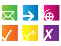 Simple icons Stock Photography