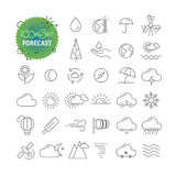 Simple icons collection. Web and mobile app outline icons Royalty Free Stock Photo