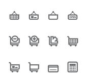 Simple icons isolated on white - Set 7. This set includes internet icons for websites, applications or presentations Stock Photos