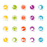 Simple Icons Office (vector) Stock Image
