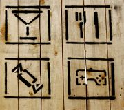 Free Simple Icons On Wooden Background Royalty Free Stock Image - 5983286