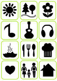 Simple icons set Royalty Free Stock Images