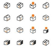 Simple icons set of box Royalty Free Stock Photo