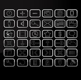 Simple icons Stock Image