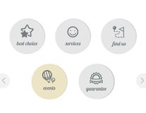 Simple icons for web. Best choise and guarantee, events, services and find us Royalty Free Stock Photography