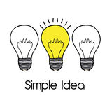 Simple idea Stock Image