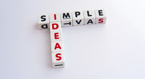 Simple ideas Royalty Free Stock Image