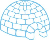 Simple igloo Royalty Free Stock Image