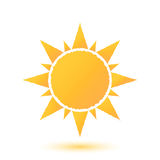 Simple illustration of abstract sun Stock Photography