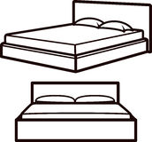 Simple illustration with beds Royalty Free Stock Photography