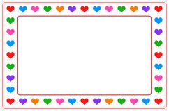 Colorful heart photo frame on isolated. Simple illustration of colorful heart photo frame on isolated. attached vector file Royalty Free Stock Image
