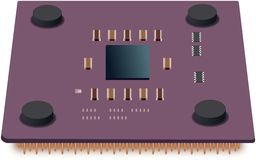 Simple illustration of CPU unit Royalty Free Stock Photo