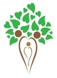 Family tree. Simple illustration of family tree on heart shape royalty free illustration