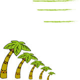 Simple illustration of  palm trees Stock Image