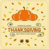 Pumpkin Thanksgiving Card Stock Image