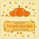 Pumpkin Thanksgiving Greeting Card Stock Photos