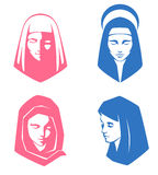 Simple illustrations of spiritual women Royalty Free Stock Photo
