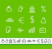Financial symbols Stock Photo