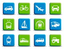 Transport buttons. Vector illustration Royalty Free Stock Photography