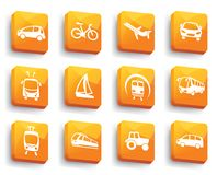 Transport buttons. Vector illustration Royalty Free Stock Images