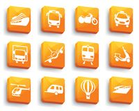 Transport icons on buttons Royalty Free Stock Photo